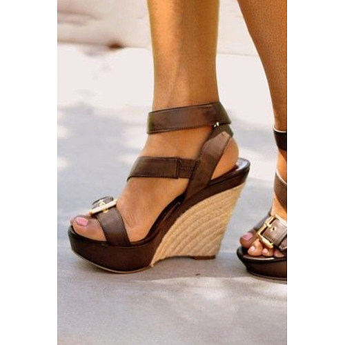 5d05f73c0ef7 Plain Peep Toe Casual Date Wedge Sandals - Luvyle.com