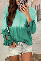 Casual Round Neck Long Sleeve Printed Sweater