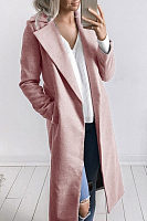 Classic Notch Lapel  Plain Coat