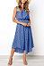 Round Neck  Asymmetric Hem  Dot  Sleeveless Maxi Dresses