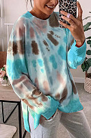 Tie-dye Long Sleeve Loose Sweatshirt