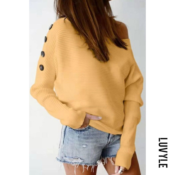 Womens Casual Solid Colour Off-shoulder Sweater - from $26.00
