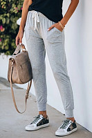 Solid Color Casual Long Pants