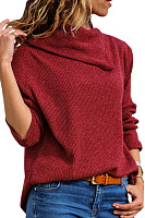 Casual Loose-Fitting Plain Sweater