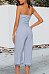 Open Shoulder  Cutout  Plain  Sleeveless Jumpsuits