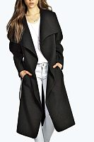 Lapel  Plain Trench  Basic  Coat