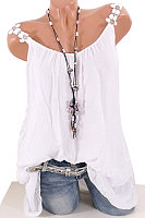 Plain Two-piece Sleeveless T-shirt