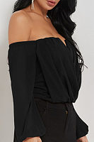Strapless  Plain Basic  Blouses