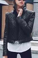 Faux Fur Collar  Plain Jackets