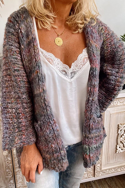 Knit Loose-Fitting Colouring Sweater