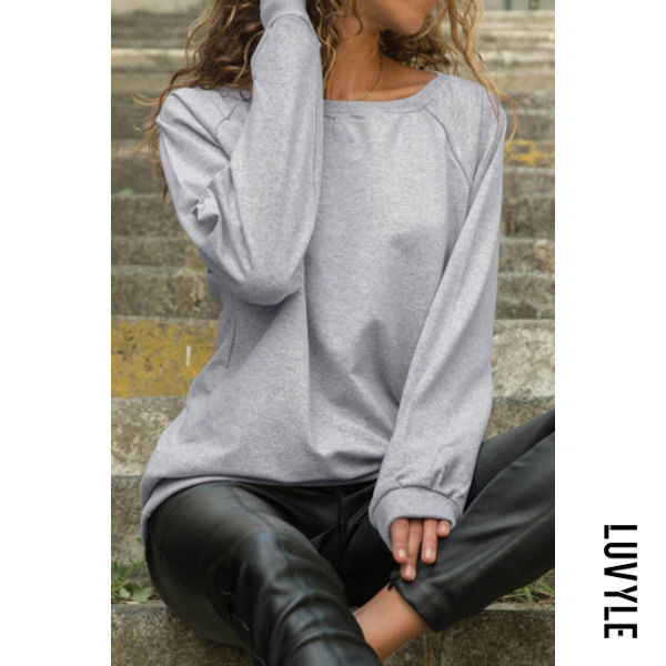 Light Gray Round Neck Plain T-Shirts Light Gray Round Neck Plain T-Shirts