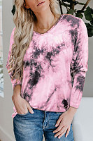 Tie-dye Printed Long Sleeve T-shirt