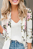 Women's floral long sleeve blazer