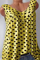 Polka Dot Printed Vest