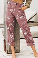 Women Floral Casual Pants