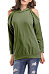 Hooded  Cutout Slit Pocket  Plain Sweatshirts