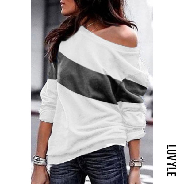 Gray Casual Colouring Long Sleeve T-Shirt Gray Casual Colouring Long Sleeve T-Shirt
