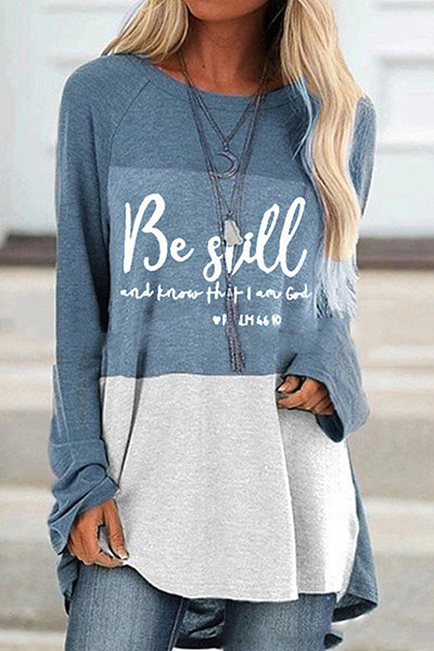 Round Neck Letters Loose-Fitting T-shirt