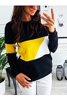 Round  Neck  Color Block  Sweatshirts