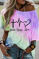 Plus Size Tie-dye Short Sleeved T-shirt
