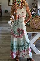 Style - tie dye gradient crew-neck print sundress