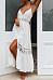 Spaghetti Strap  Decorative Lace Single Breasted  Plain Maxi Dresses