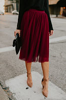 Bootcut Yarn Plain Skirts