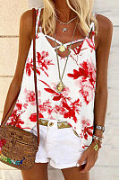 Floral Cross Sling Camisole