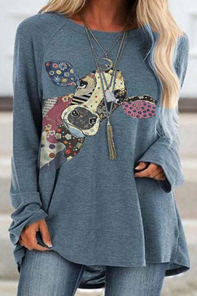 Coloring Cattle Long Sleeve T-shirt