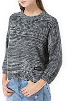 Crew Neck  Stripes Sweaters