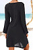 Casual Daisy Print Long Sleeve Midi Dress