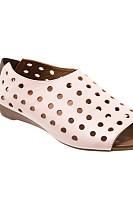 Hollow Out Plain  Flat  Peep Toe  Casual Flat Sandals