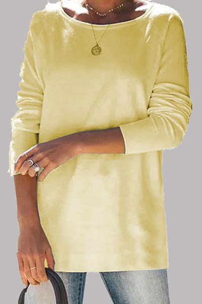 Candy-colored casual T-shirt