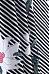 Turn Down Collar  Asymmetric Hem  Floral Printed Striped  Blouses