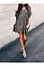 V Neck Loose Leopard Printed Short Sleeve Casual Dresses