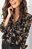 Women's Fashion Stitched Long Sleeve Blouse