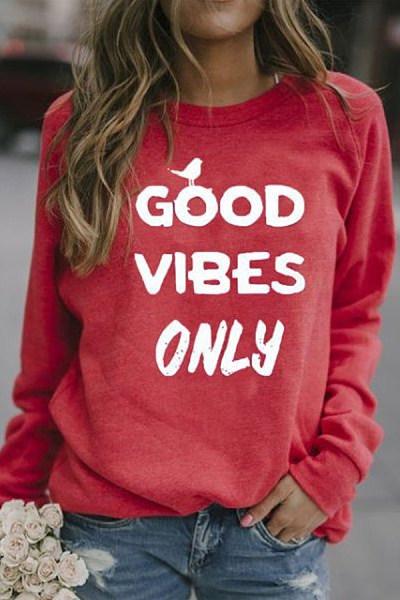 Letters Long Sleeve Sweatshirt
