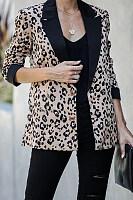 Women Casual Leopard Blazers