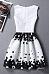 Round Neck  Zipper  Polka Dot  Sleeveless Skater Dresses