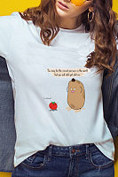 Round Neck Cartoon Casual T-Shirts