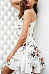 Spaghetti Strap  Cross Straps  Floral Printed  Sleeveless Casual Dresses