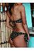 Collarless  Bowknot  Polka Dot Bikini