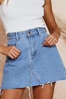 Fashion Casual Wild Denim High   Waist Skirt