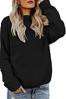 Round Neck  Two Way  Plain Sweaters