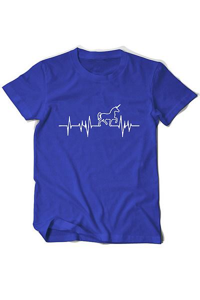 Round Neck Short Sleeve Horse T-shirt