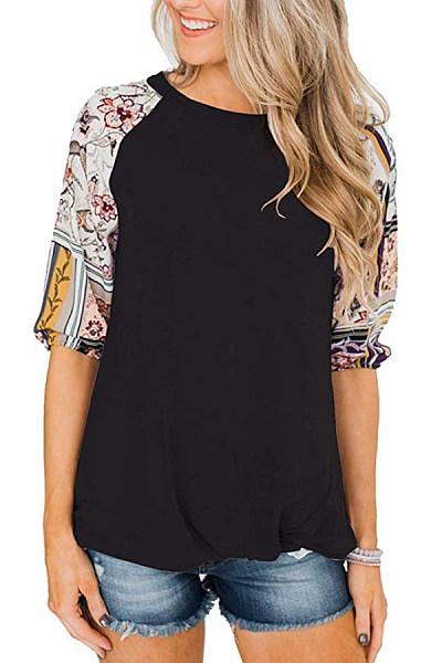 Round Neck Half Sleeve Plain T-Shirt