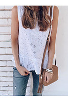 Casual Hollowed-Out Sleeveless T-Shirt