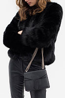 Faux Fur Collar  Fur Collar  Plain Outerwear