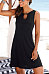Round Neck Sleeveless Solid Color Mini Dress