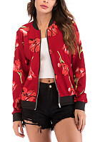 Band Collar  Print Jackets